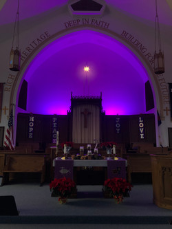 Altar During Christmas