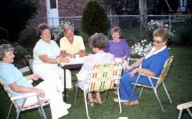 Merry Mates backyard gathering