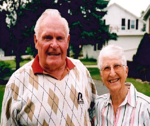 Ernie and Bea on one of their golfing days.