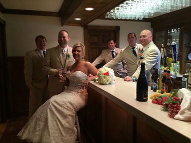 Rustic Indoor Bar for Wedding Reception
