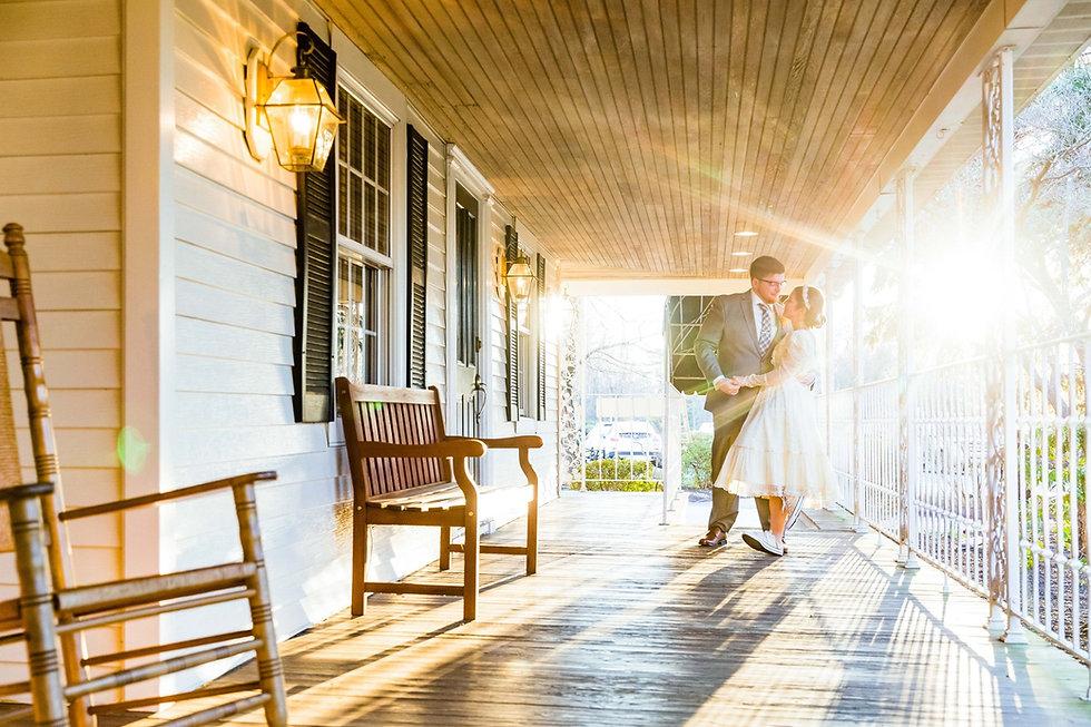 Rustic Wedding Venue Front Porch