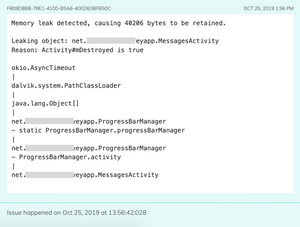 Memory leak detection during development / testing. The exact object that leaks is identified and reported.