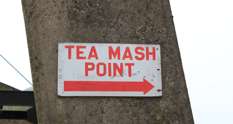Tea Mash Point sign at Pleaseley colliery