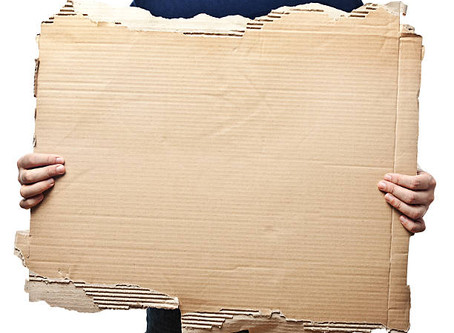 What to give a person holding a cardboard sign
