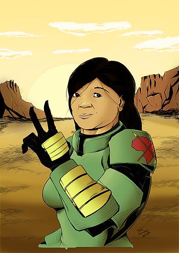 Mass Effect Lost Scrolls - Commander Mom
