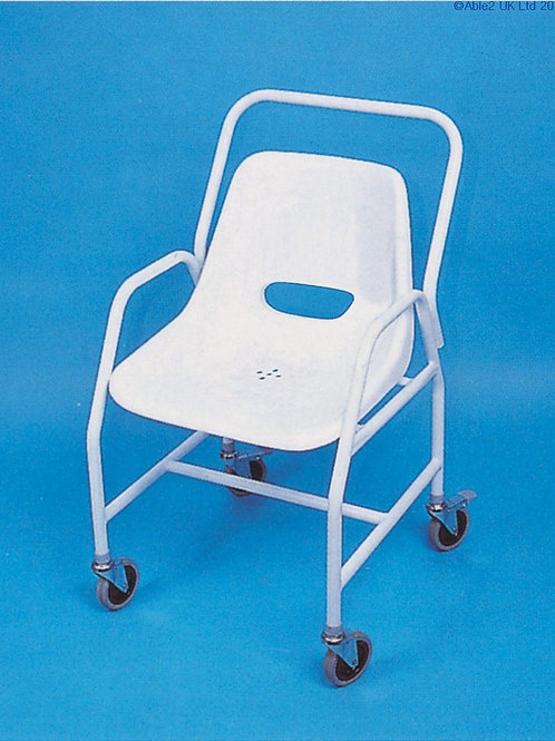 Mobile Shower Chair - Adjustable Height