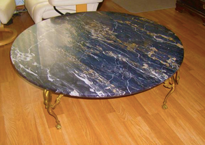 black marble coffee table with gold legs