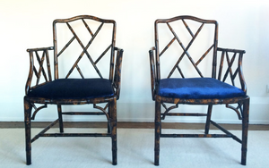 Regency bamboo chairs