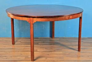 Danish modern round dining table