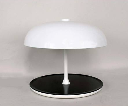 MCM white atomic dome lamp