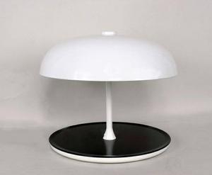 MCM white atomic dome lamp