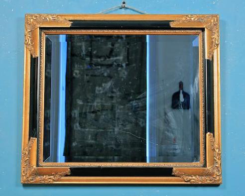 Ornate Hollywood regency mirror