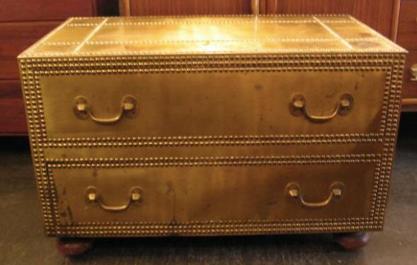italian brass chest drawers