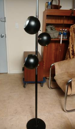 Black MCM three arm lamp