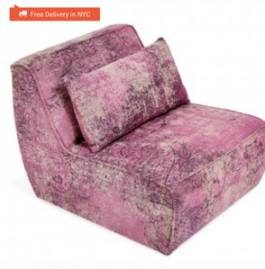 ABC Carpet & Home mysticism pink memory single seat sofa