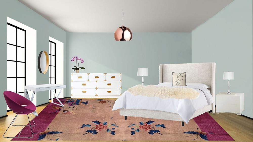 e-design chinoiserie bedroom makeover