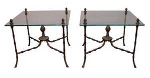 Pair of vintage Italian end tables