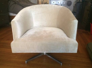 ABC Carpet & Home upholstered swivel chair - $425 (Brooklyn)