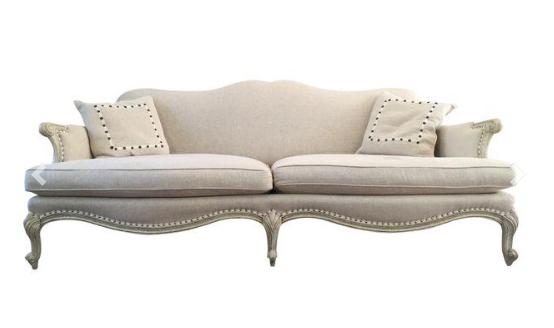 Horchow cream colored sofa