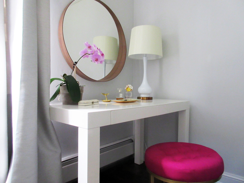 IKEA STOCKHOLM MIRROR WEST ELM PARSONS DESK