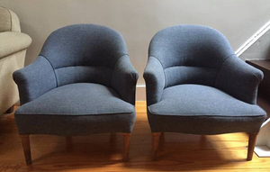 french blue slipper chairs