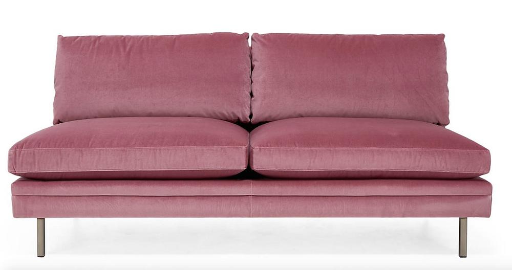 highline lorimer velvet armless loveseat ABC Carpet & Home