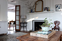 living room with antique pine coffee tab