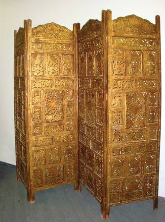 Bronze gold folding screen from ABC Carpet & Home