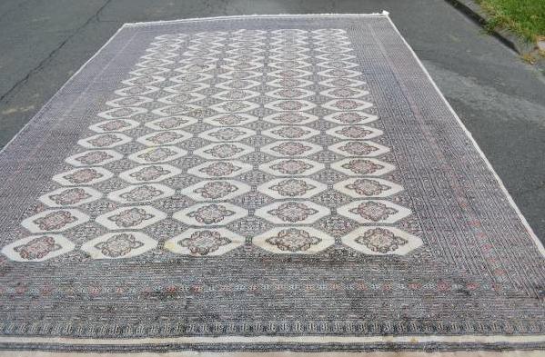 Large Bukhara vintage rug