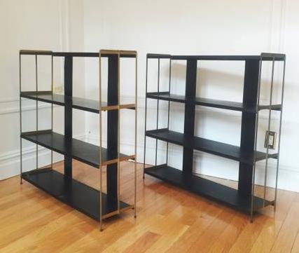 MCM industrial metal shelf set
