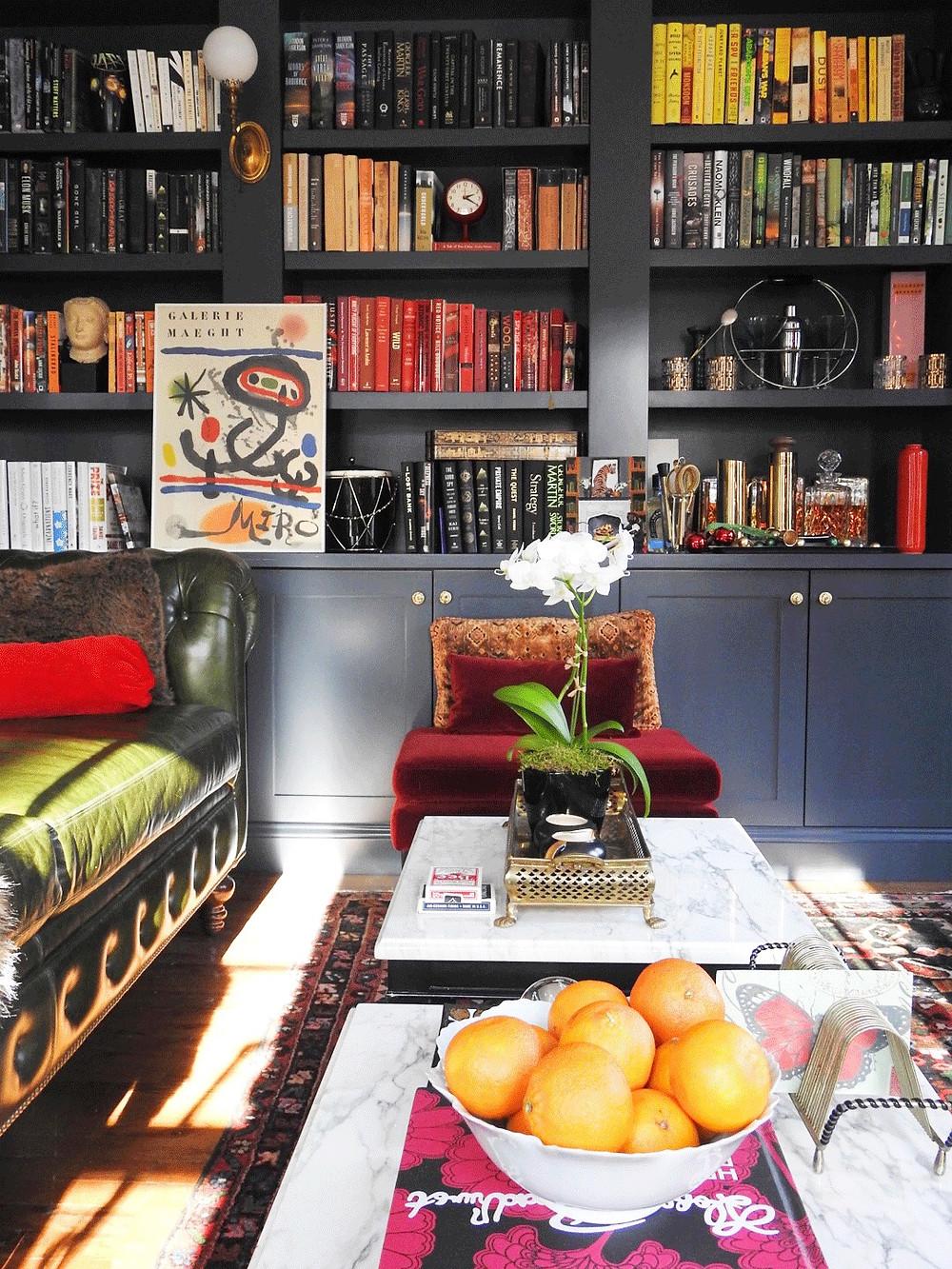 hague blue bookcase