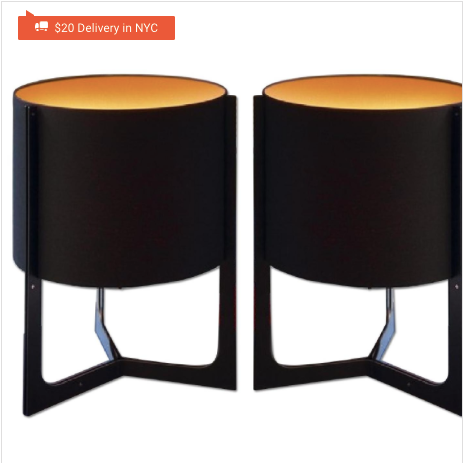 Carpyen nirvana black & orange table lamps