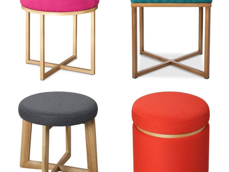 FOUR STYLISH OTTOMANS FROM TARGET FOR LESS THAN $60
