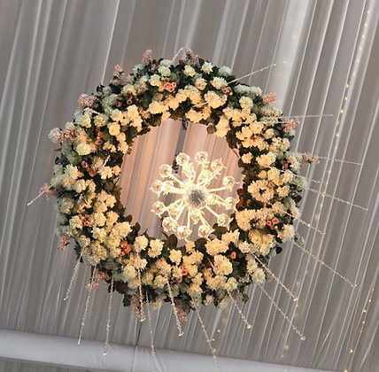 8' Flower Wreath