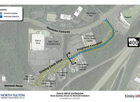 North Fulton Community Improvement District Receives $2 Million Grant for Davis Drive Extension Proj