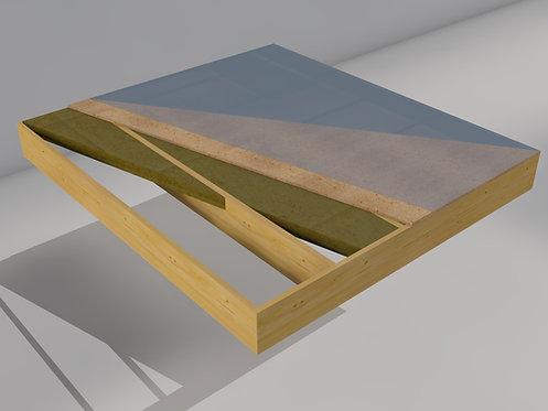Flat/compact roof element