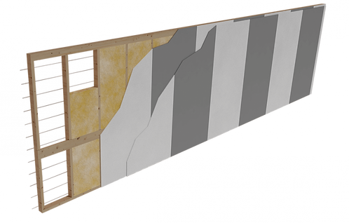 Separating wall elements between housing units