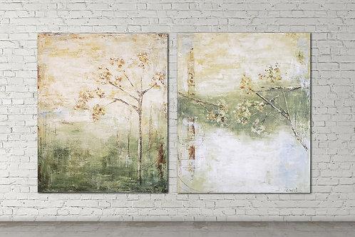 duo floral medida 90x90cm