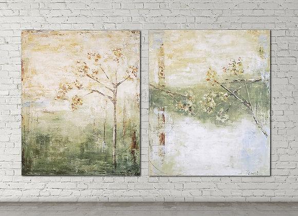 duo floral medida 100x120 cm cada