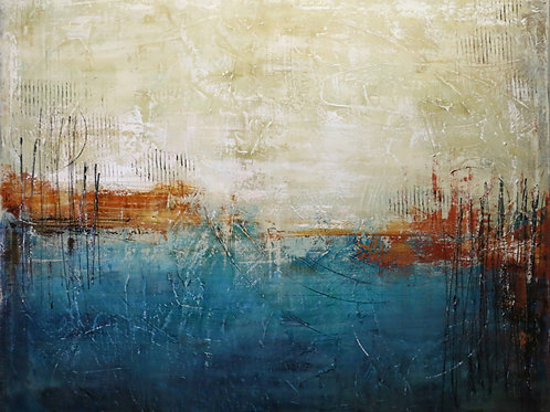 Troubled sea  especia 80x120 cm