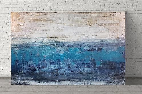 Cold blue ocean 80x140 cm