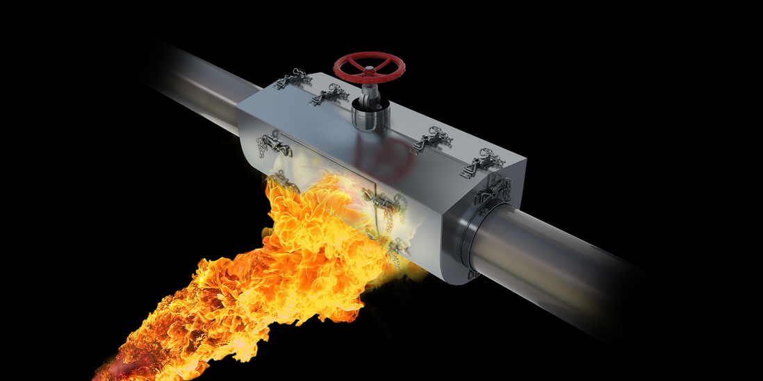 Firebox for pipework piping pipe junction box fire protection Favuseal wrapon wrap on 170 operational temperature jet fire Lambda F