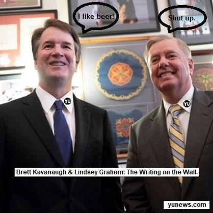 Kavanaugh and Graham - The Writing on th