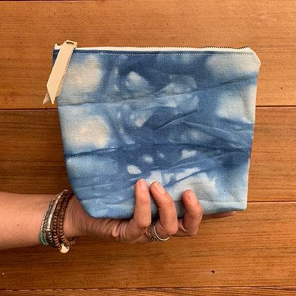 Hand-dyed Canvas Zipper Pouch