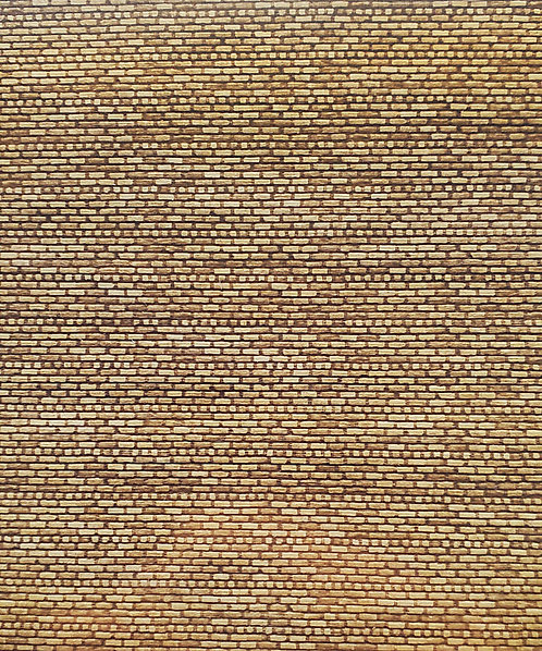 "O Scale - Aged American Brick 12"" X 6"" X 1/32""  Basswood Sheet"