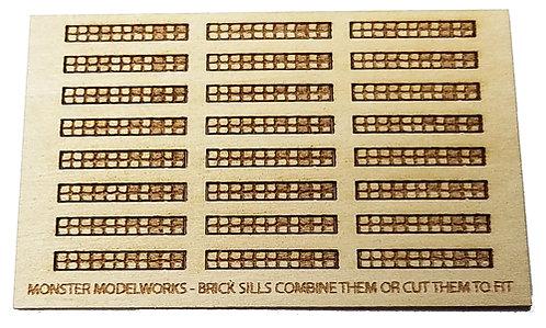 HO Scale - Brick Window Sills