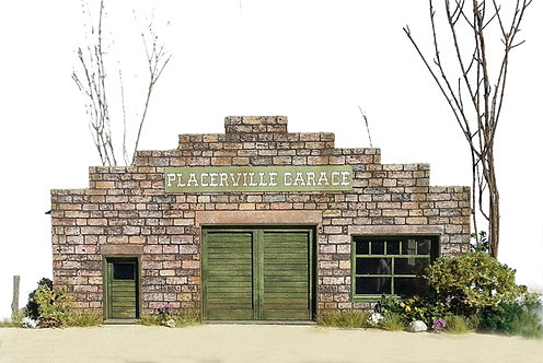 HO Scale - Placerville Garage Kit