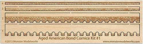 HO Scale - Aged American Cornice Kit #1