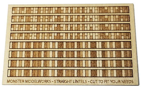 HO Scale - Vertical Brick Lintels