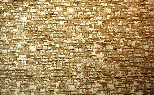 """Small Mixed Cut Stone Interlocking Sheet 11.3"""" X 5.85"""" X 1/8"""""""